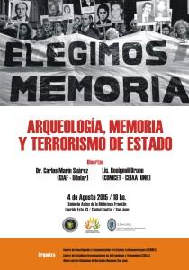 Arqueología, Memoria y Terrorismo de Estado - afiche